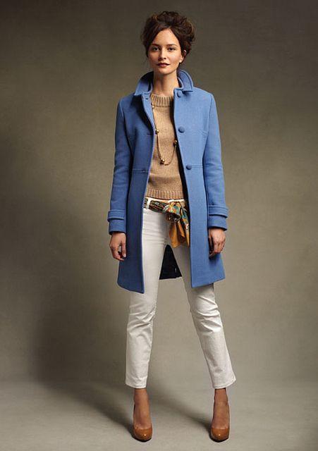 Talbots herringbone quarter-length coat by redchairconfessions, via Flickr