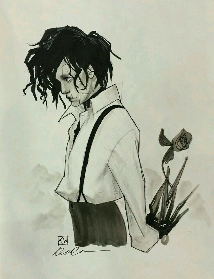Edward Edward Scissorhands Tim Burton Art Cool Art
