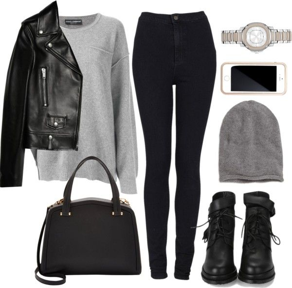 plain polyvore outfits leather jacket 8