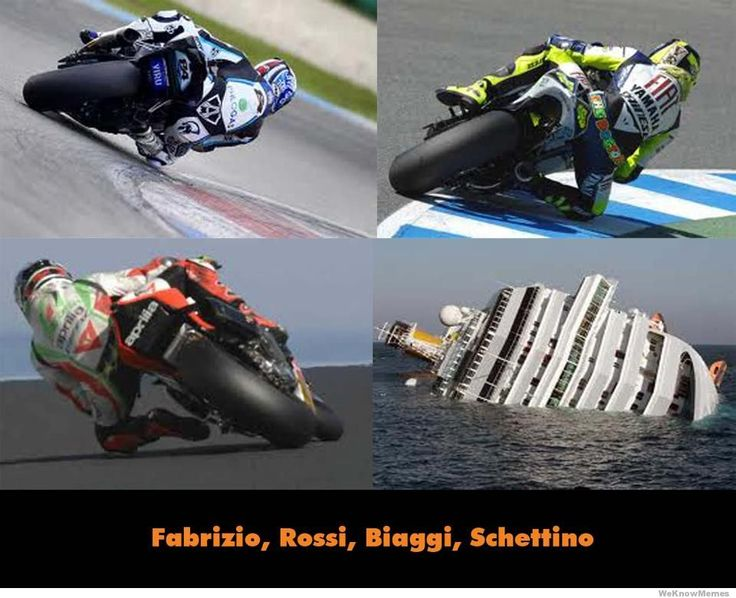Schettino learned from the greatest riders in Italy. Fabrizio, Rossi, and Biaggi.: Schettino Learning, Greatest Rider
