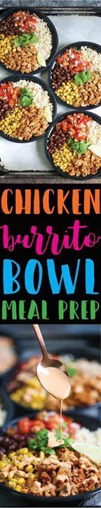 Chicken Burrito Bowl Chicken Burrito Bowl Meal Prep - Think of...  Chicken Burrito Bowl Chicken Burrito Bowl Meal Prep - Think of this as healthier (and cheaper!) Chipotle bowls that you can have all week long. Save time and calories here!!! Recipe : http://ift.tt/1hGiZgA And @ItsNutella  http://ift.tt/2v8iUYW
