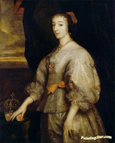 Queen henrietta maria i Artwork by Anthony van Dyck Hand-painted and Art Prints on canvas for sale,you can custom the size and frame