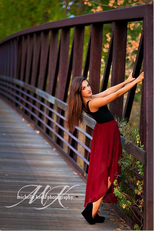 Senior Pose Bridge Michellekrollphotography Prom