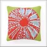 Seaside Inspired | beach themed pillows, sea life pillows, seashell pillows, coral pillows, nautical pillows, coastal pillows, beach pattern pillows, beach embroidered pillows, beach hook pillows, from seasideinspired.com