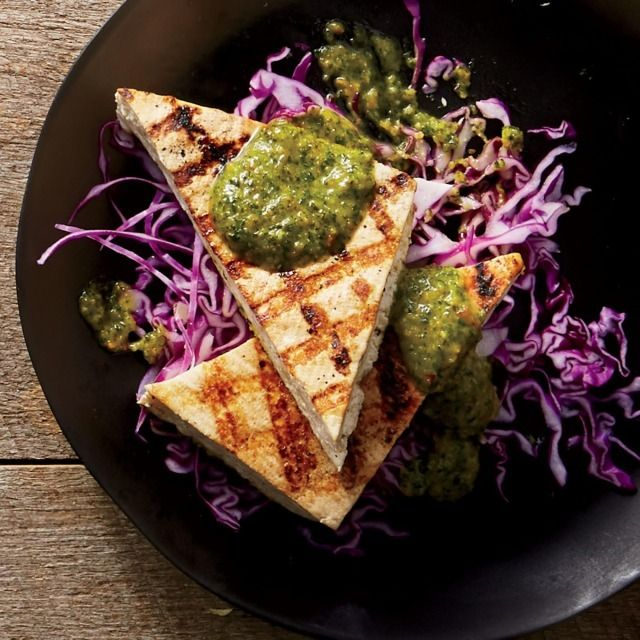 Grilled Tofu With Spicy Peanut Sauce: Buy firm or extra-firm tofu; softer varieties will fall apart on the grill. | Health.com
