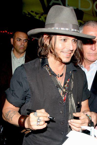 Johnny Depp Photo - Johnny Depp at the Pink Taco