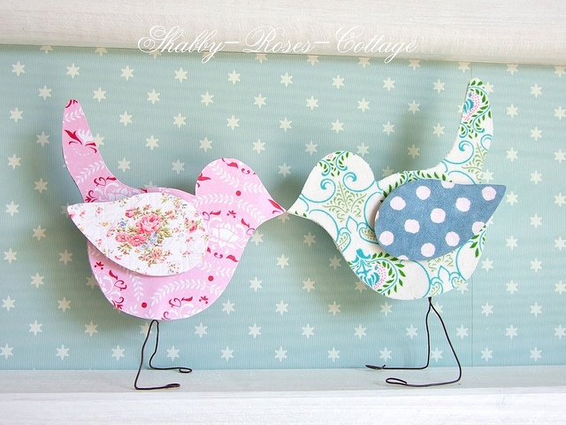 Paper birds- these would be cute baby shower decorations with birdhousrs too.