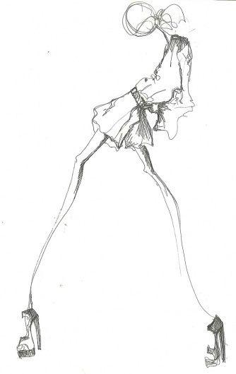 Fashion illustration - fashion design sketch // Tibi