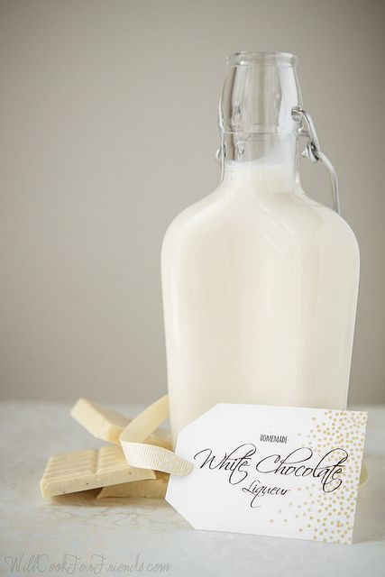 Homemade White Chocolate Liqueur | Will Cook For Friends
