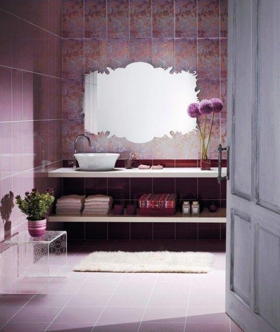 33 Cool Purple Bathroom Design Ideas | DigsDigs