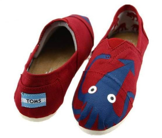 Classics Octopus Red Toms Women Shoes : toms shoes sale,toms outlet online,  welcome
