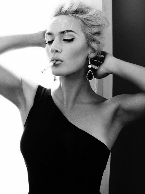 kate winslet. love the contrast between the organic shapes of the dress and the straight lines of the doors. perfect in BW