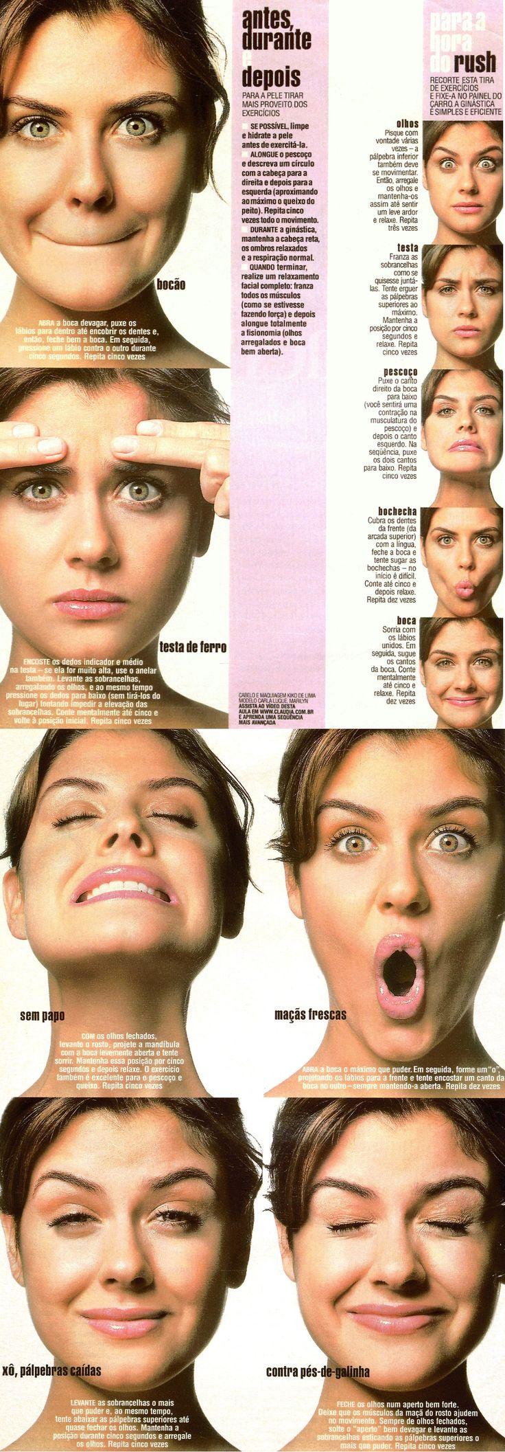 facial exercises - exercicios anti rugas