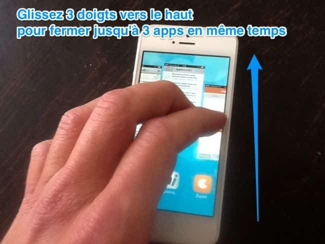 Comment fermer plusieurs apps en même temps iphone ios