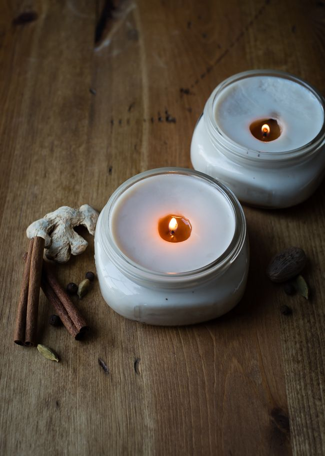 DIY Chai-Spiced Fall Candle