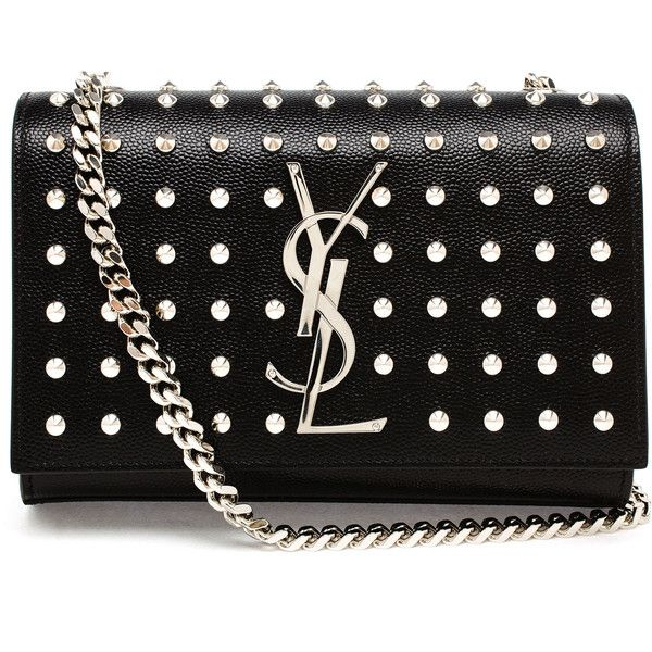 SAINT LAURENT Studded Mini Monogram Bag found on Polyvore