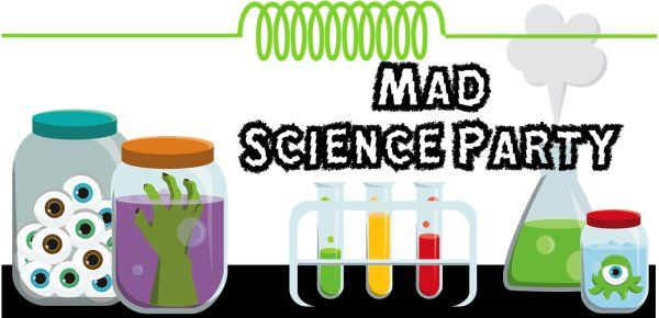 Mad Science Party Games, Ideas, Invitations, and party supplies USE THIS SITE - IT GIVES EVERYTHING