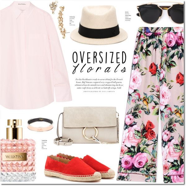 A fashion look from April 2016 by stellaasteria featuring Acne Studios, Dolce&Gabbana, Chloé, Hermès, Marchesa, Christian Dior, Maison Michel and Valentino