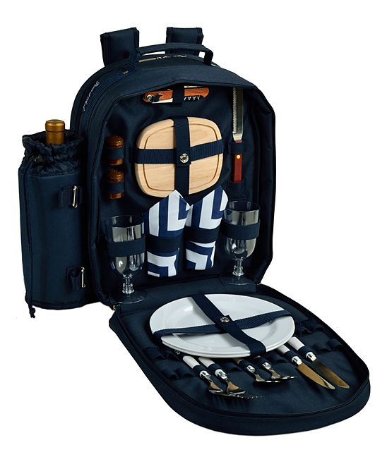 Navy Picnic Backpack Cooler for Two