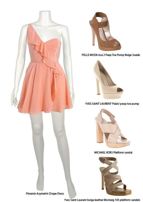 What Color Shoes To Wear With Coral Bridesmaid Dress