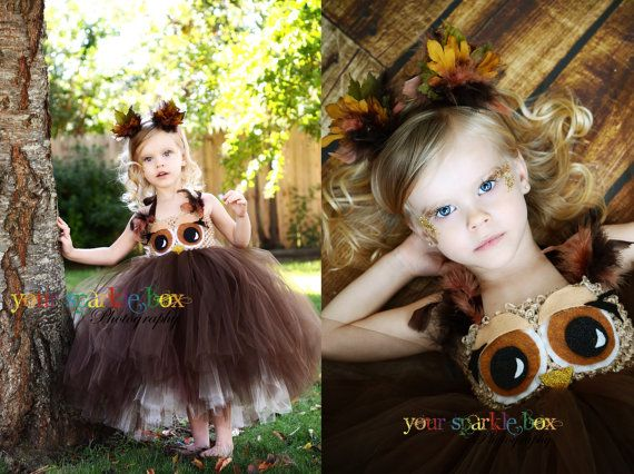 Owl tutu dress and matching headband nb 4t by YourSparkleBox