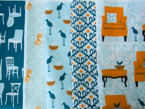 Joel Dewberry aviary fabric - to be used in cushions for kitchen chairs