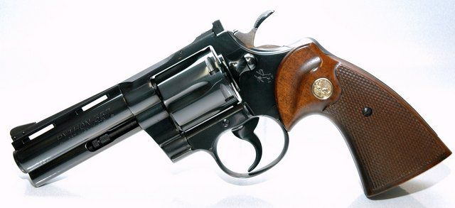 Colt Python. This is one I always wanted but never had the means to buy. It is too me, the perfect revolver.JL