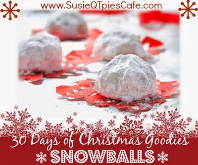Snowball Cookies Christmas Goodies - skinny mini holiday recipe #christmas #cookies