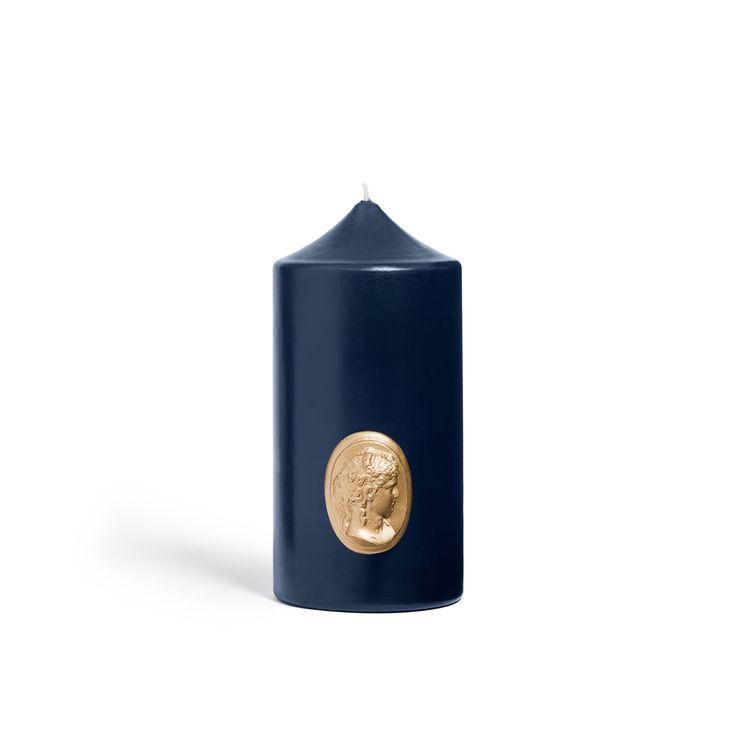 Cierge Bleu marine-8cm_15cm