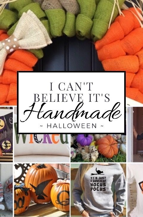 I can't Believe this is Handmade Halloween home decor kids friendly ideas and…