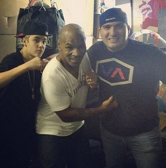 Justin Bieber, Mike Tyson and John Shahidi