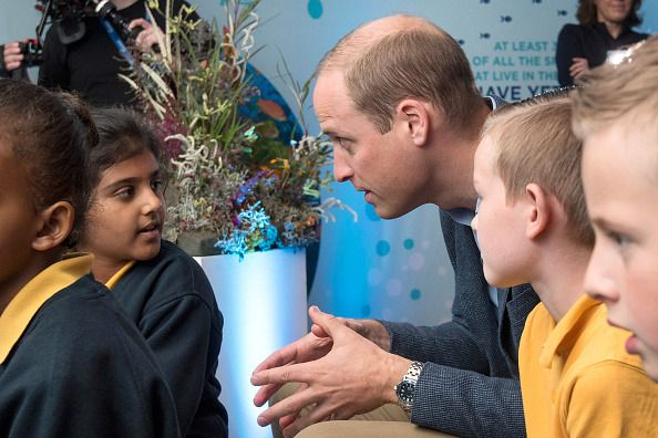 The Duke of Cambridge met with students from the Lionel Road Primary School, Brentford at the World Premiere of 'Blue Planet II' on September 27, 2017. Photo by Geoff Pugh - WPA Pool /Getty Images