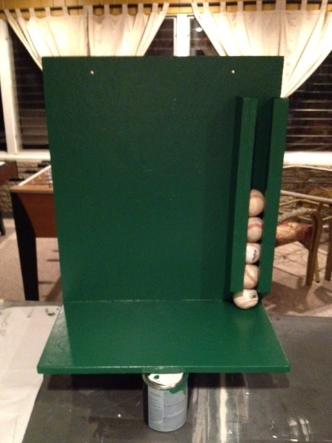I made this baseball dugout organizer for the high school ...