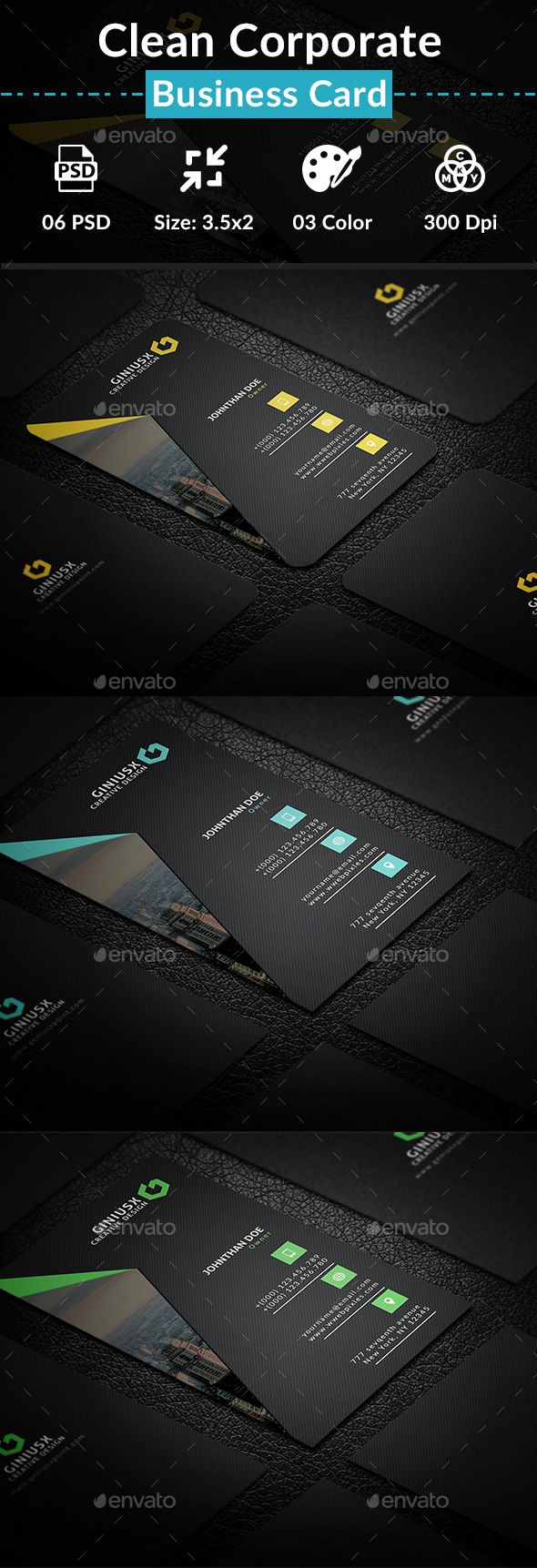 Clean Corporate Business Card - Creative Business Cards Download here : graphicr...
