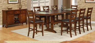 The Dump Furniture Outlet Iron Strap Dining Room