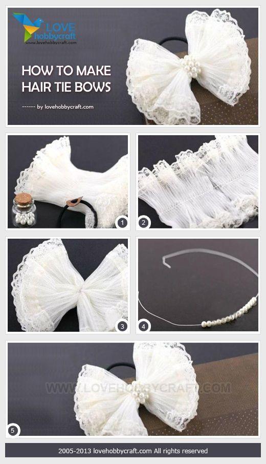 Como fazer arcos laço de cabelo por Ada123
