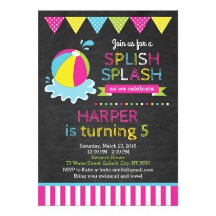 beach ball birthday invitation various invitations pinterest