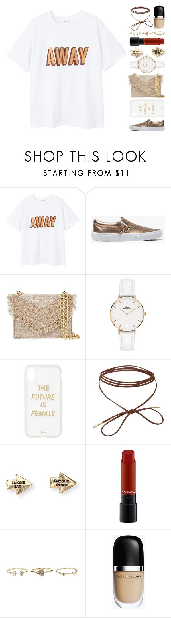 """""""22 février"""" by elyblog ❤ liked on Polyvore featuring MANGO, Vans, Cynthia Rowley, Daniel Wellington, Sonix, Aéropostale, MAC Cosmetics and Marc Jacobs"""