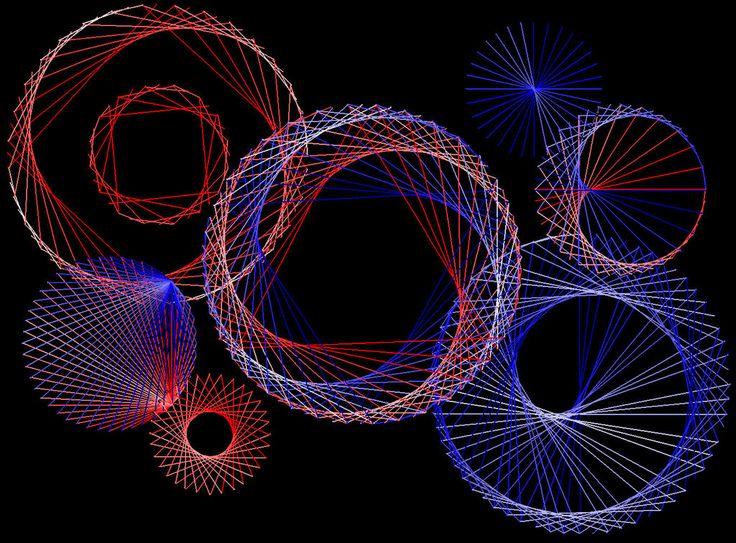 Digital string art circles by terhesati.deviantart.com on @deviantART