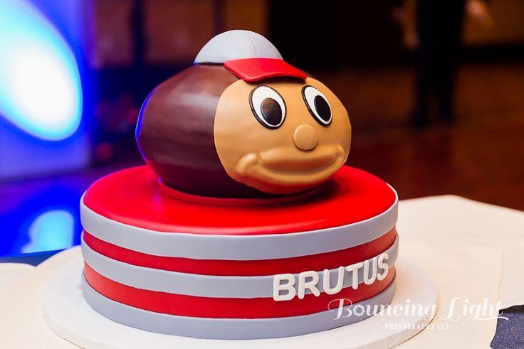my favorite cake!  groom's cake, brutus buckeye, osu, ohio state university, cake, wedding cake, buckeyes