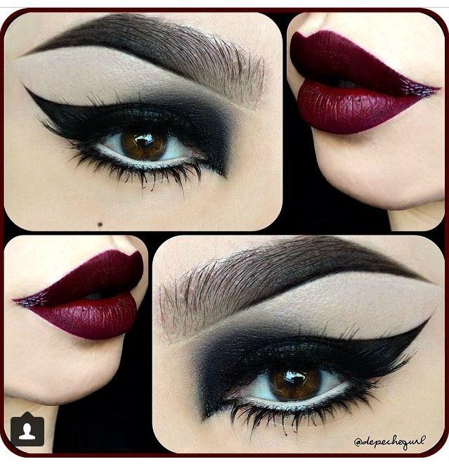 Dark make up look