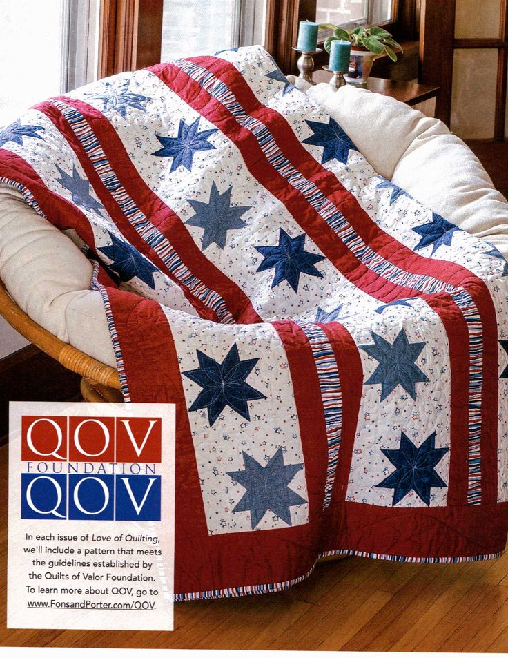 Star-Spangled Beauty - Easy Patriotic Quilt of Valor