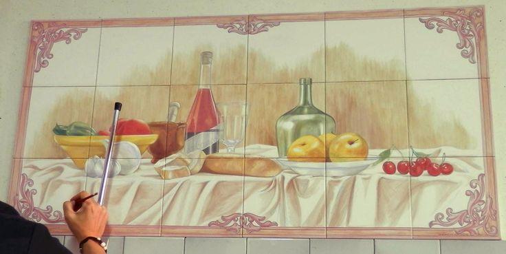 Pintando azulejos en ceramica