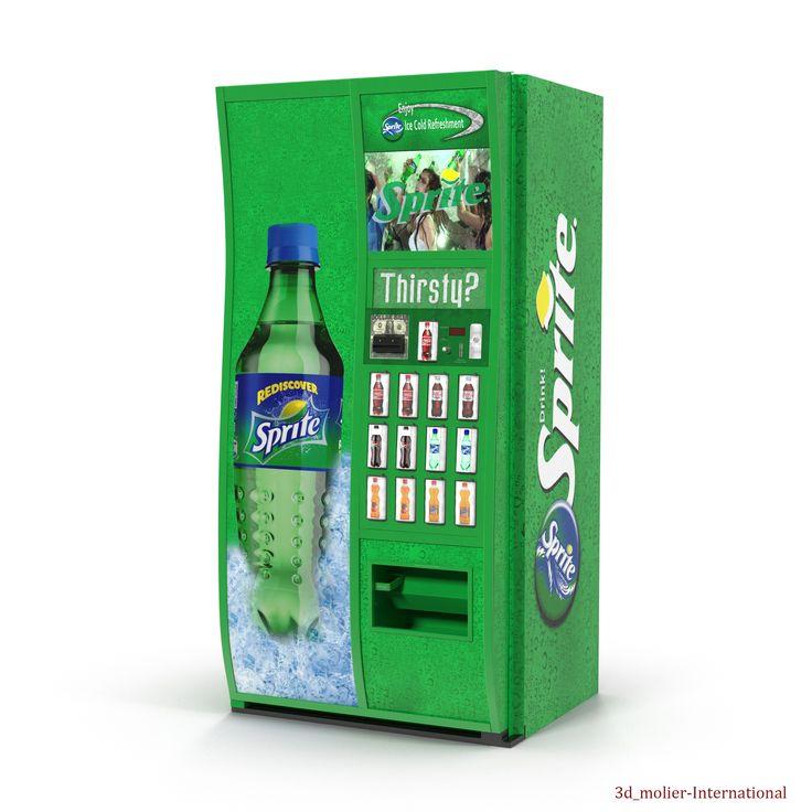 Sprite Vending Machine 3d model  http://www.turbosquid.com/3d-models/max-sprite-vending-machine/919203?referral=3d_molier-International