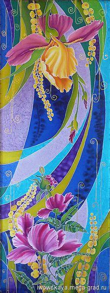 """МегаГрад, handmade авторские шарфы и платки - Шарф """"Весна"""", Александра Львовская"""