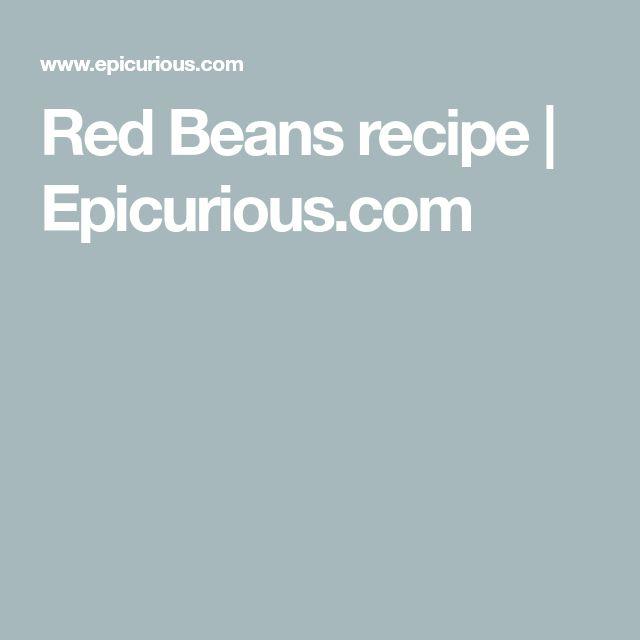 Red Beans recipe | Epicurious.com