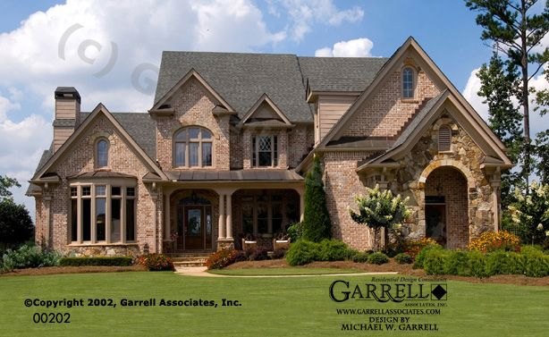 Garrell associates inc monet house plan 00202 front for French country elevations
