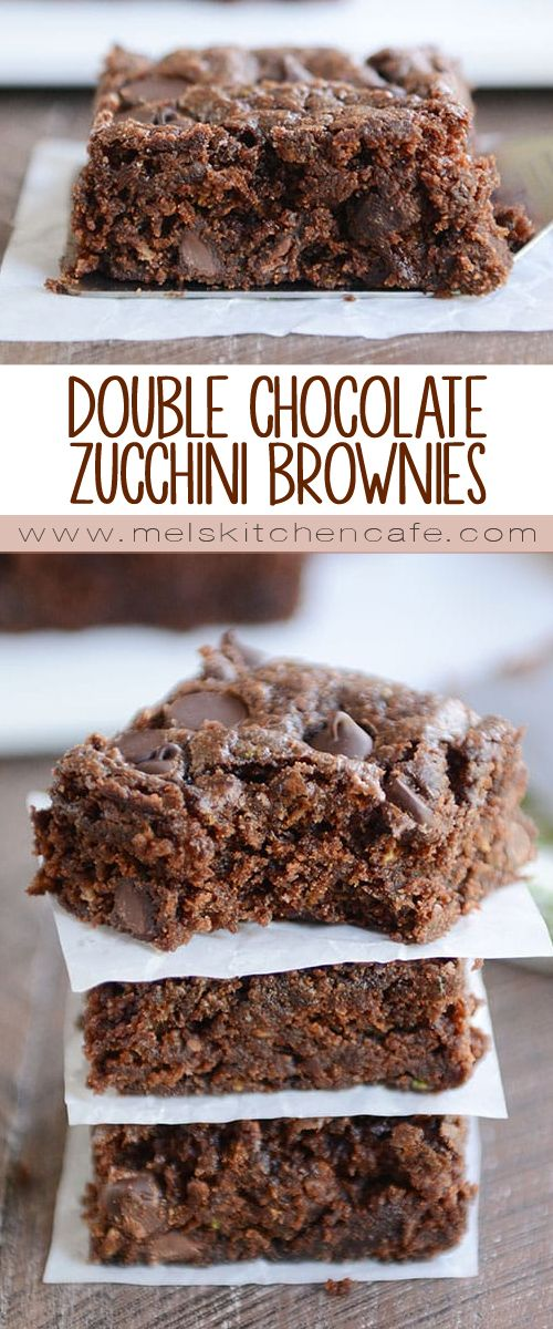 Decadent and delicious, these velvety and rich one-bowl chocolate zucchini brownies are one of the BEST ways to use up all that zucchini!