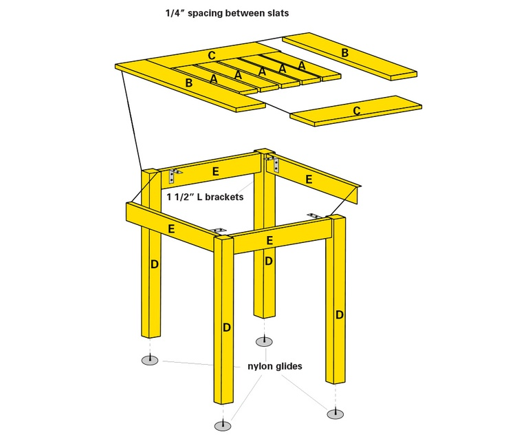 A Simple Cocktail Side Table. The Plan Is Also Adjustable To Make A Coffee  Table