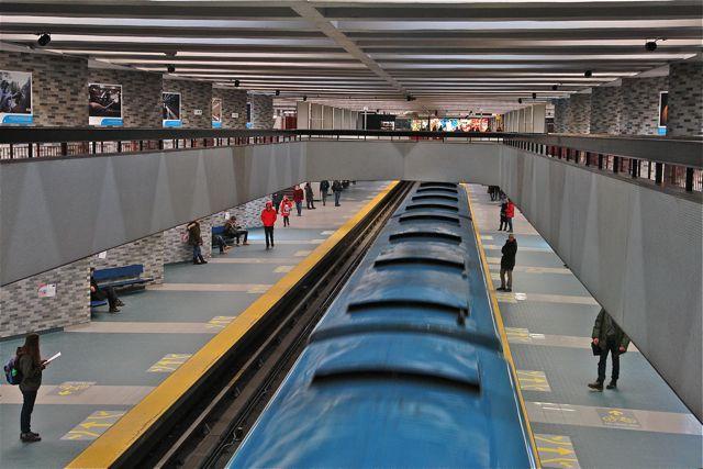 "Montreal.Subway station ""Place des Arts"". Photo:T. Graffe"